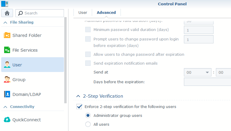 Secure Synology NAS with 2-step verification