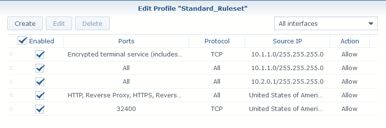 Secure Synology NAS with Firewall Rules