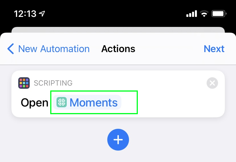 iOS Automation Synology Moments